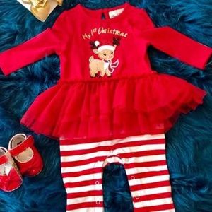 Rare Editions baby's 1st Christmas outfit